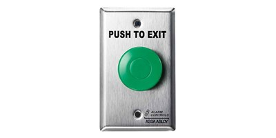 TS-14: with green push button, single gang wall plate